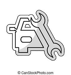 auto repair service isolated icon