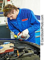 auto repairman at work