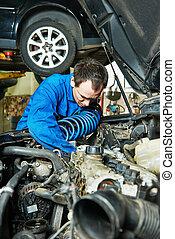 auto repairman mechanic portrait