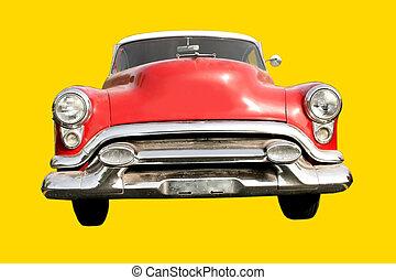 auto, retro, rotes