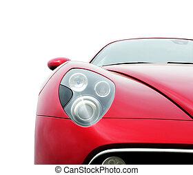 auto, rotes , coupe