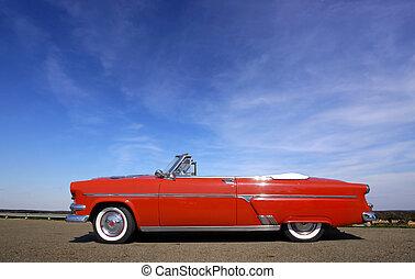 auto, rotes , klassisch