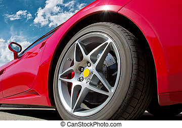 auto, rotes , sport