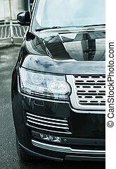 auto, scheinwerfer, modern, prestigious