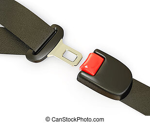 seatbelt - auto seatbelt isolated on a white background