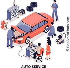 Auto Service Illustration