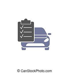 Auto service, isolated icon on white background, auto service, car repair. Vector illustration of modern auto repair icon