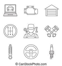 Auto service linear icons vol 2