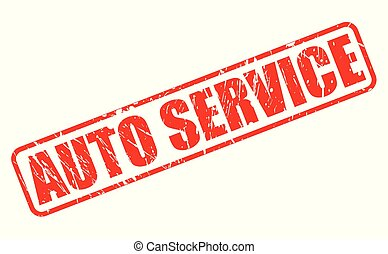 AUTO SERVICE red stamp text