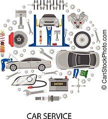 Auto Service Round Design