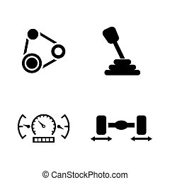Auto service. Simple Related Vector Icons