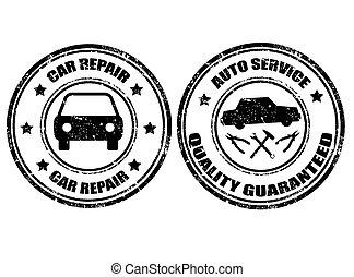 Auto service stamp
