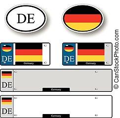 auto, set, germania