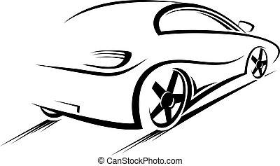 auto, silhouette