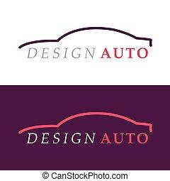 auto, silhouette, logo.