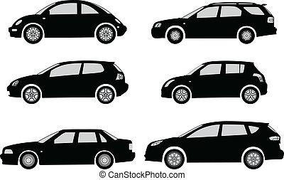 auto, silhouetten
