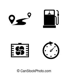 Auto. Simple Related Vector Icons