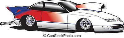 auto, slepen, hardloop