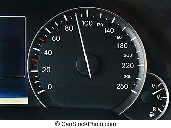 auto, snelheidsmeter