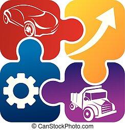Auto Solution Logo Design Template Vector