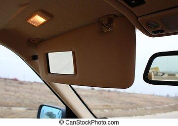 auto, sonne- licht, schutz, visier