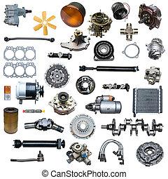 Auto spare parts car on