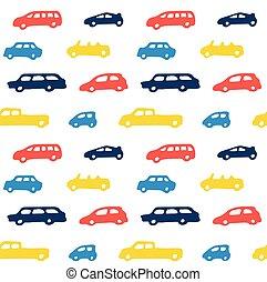 auto, speelbal, kleur, seamless, model, achtergrond