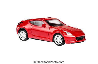 auto, speelbal, rood
