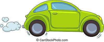 auto, spotprent