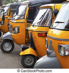 auto, stehen, nadu, rickshaw, tamil