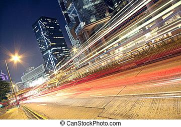 auto, straße, durch, geschwindigkeitsüberschreitung