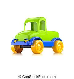 auto, stuk speelgoed vrachtwagen
