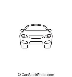 auto, symbool, auto, vector, grafiek, pictogram