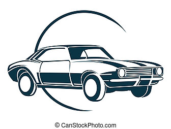 auto, symbool, oud