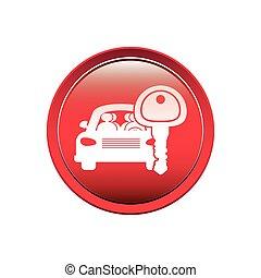 auto, taste, schlüssel