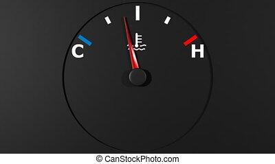 auto, thermometer