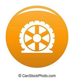 Auto tire icon orange