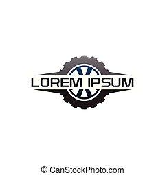 auto tire logo design concept template