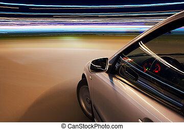 auto, treiben schnell