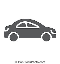 Auto trip glyph icon, automobile and tourism, car sign, vector graphics, a solid pattern on a white background.