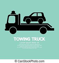 auto, truck., slepen