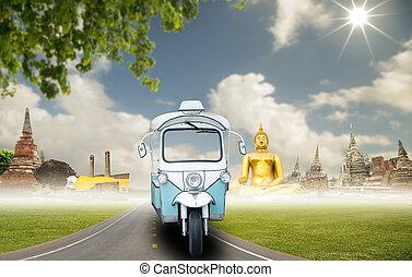 auto, tuk, tourismus
