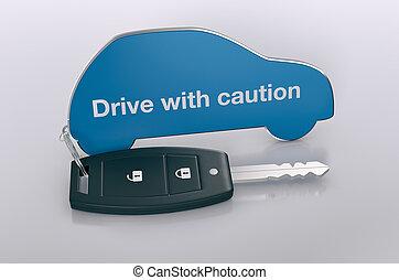 auto, und, sicherheit, begriff