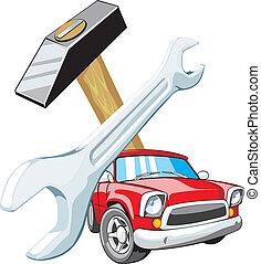 auto, vaststellen, meldingsbord