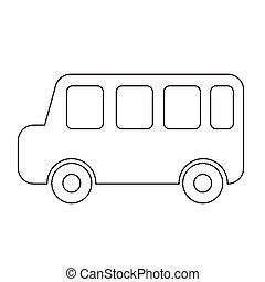 auto, vector, illustratie, pictogram