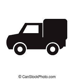 auto, vector, illustratie, pictogram