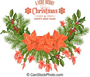 auto, vector, kerstmis, vrolijk, groet