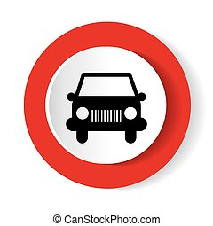 auto, vector., pictogram