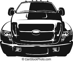 auto, vector, spotprent