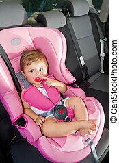 auto, veiligheid, veiligheid, baby, seat.